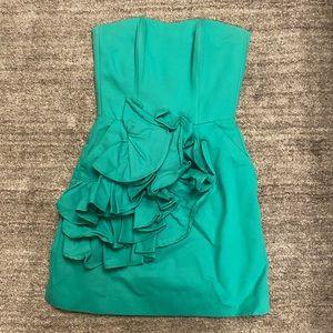 Beautiful Kiribilla strapless green dress
